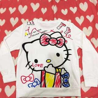 Hello Kitty長袖上衣XL女生上衣t恤