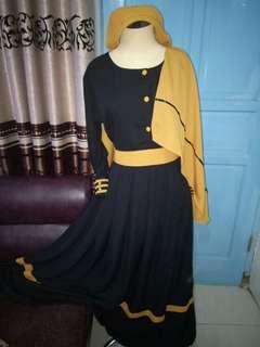 gamis syari with hijab
