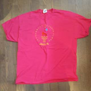 **PRICE REDUCED** Pink Atlanta 1996 olympic t-shirt