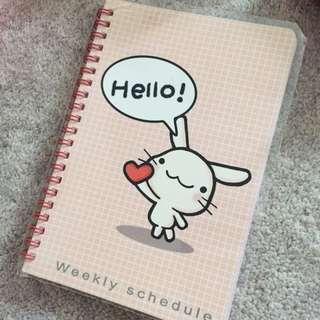 Weekly Schedule Agenda