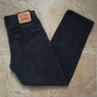 LEVI'S 550 HIGH-RISE BLACK MOM JEANS W30L30