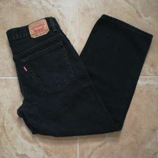 LEVI'S 550 HIGH-RISE BLACK MOM JEANS W30L26