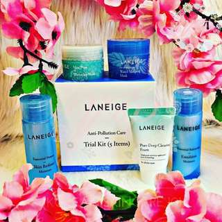 Laneige Anti-Pollution Care Trial Kit 5 item