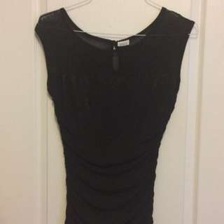 Suzy Shier Black Blouse - Size M