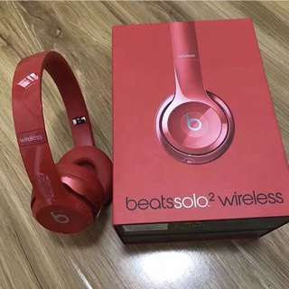 Beats Solo 2 Wireless Red Headphones Model With Microphone