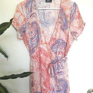Dotti wrap dress maxi