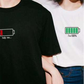 Korean branded couple tee IN BLACK