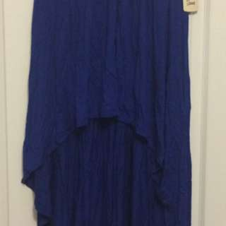 Forever 21 hi-lo royal blue skirt - Medium