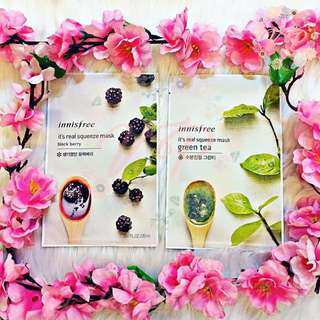 Innisfree It's real squeeze mask - Green Tea & Black Berry