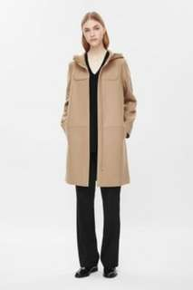 *COS (small) Camel Wool hooded coat