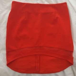 White Charcoal orange skirt