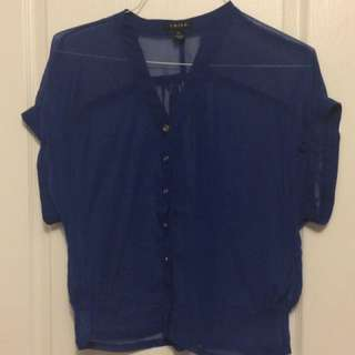 UK2LA Royal Blue Blouse - Medium