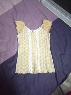 Beige Lacey Top #july50