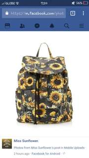 LOOKING FOR A SUNFLOWER BAGPACK