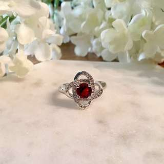Sterling silver 'Halo of Stars' Cubic Zirconia ring, size 7