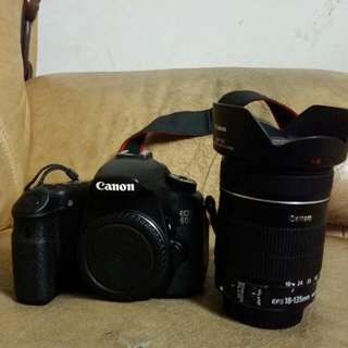 canon 60d + 18-135mm (FULLBOX AND PAPER)