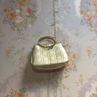 Gold Hand bag/Clutch party
