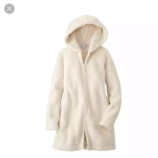 Jaket Fleece Uniqlo Bulu Lembut