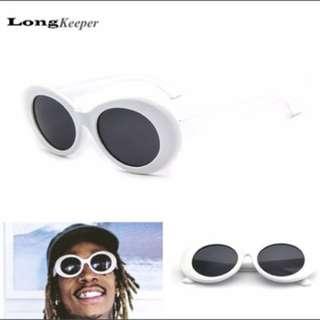 White grunge sunglasses