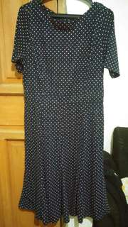 Plan dots office dress