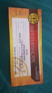GOLDS GYM 1 YEAR ELITE MEMBERSHIP (All Access)