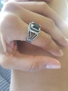 Sterling silver/Cubic zirconia ring- size 6