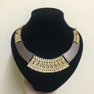 Necklace Brown Gold