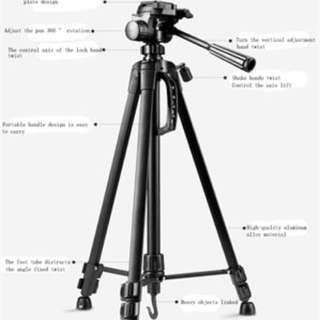 WEIFENG 3520 WT-3520 3-way Head Tripod Lightweight For Camera Canon Nikon Sony