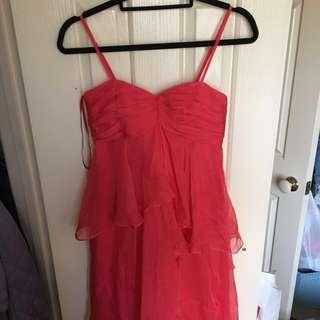 SALE Bariano Fuschia Chiffon Dress- Size 6