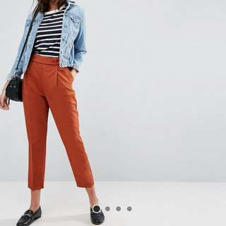 ASOS Tapered Pants in RUST