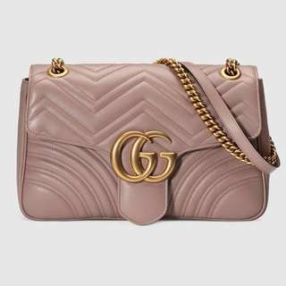 Gucci, Marmont Matelassé Shoulder Bag Nude