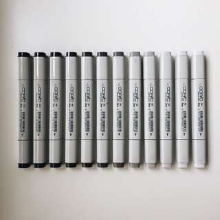 Copic Marker Set 12 Neutral Grey