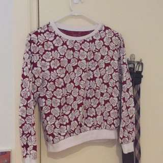 Cropped rose jumper