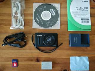 Canon Powershot S100 - COMPLETE BOX w/ FREE 4GB SD CARD