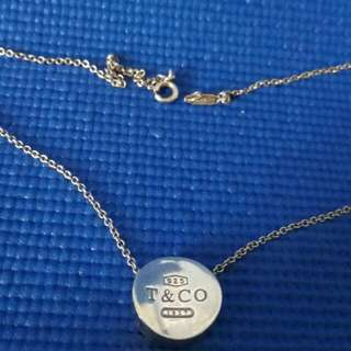SOLD-Authentic Tiffany and Company T & Co Necklace