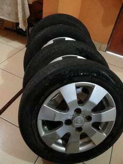 Rim with tyre