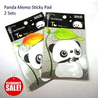 Sticky Memo Pad - Panda Pad 2 Sets - Clearance Sale