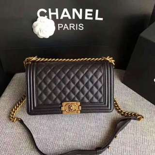 Chanel boy bag  gold hardware