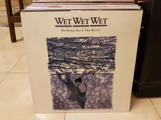 Wet Wet Wet Holding Back The River Vinyl LP Original Pressing Rare