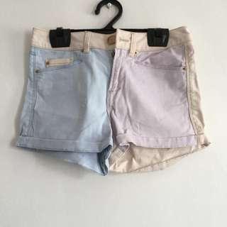 Bershka HW Multicolored shorts