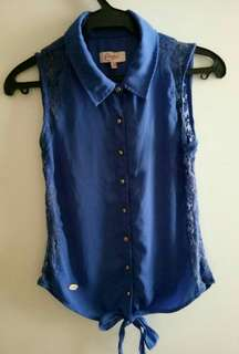 Candie's royal blue sleeveless