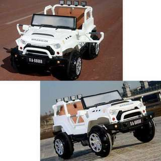 All New Jeep Wrangler Ride On Car for Kids