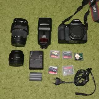 PRICE SLASHED!!! Canon 40D + 2 lenses + accessories CHEAP (50mm f1. 8 + 28-76mm f2.8 and MORE!)