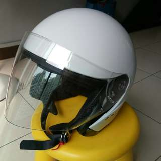 Trax White XL 61~62 Motorcycle Helmet
