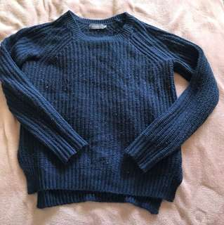 Size medium blue knit