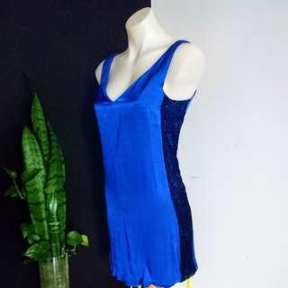 Women's Size 6 (6-8) 'WITCHERY' Stunning Blue shift dress - AS NEW