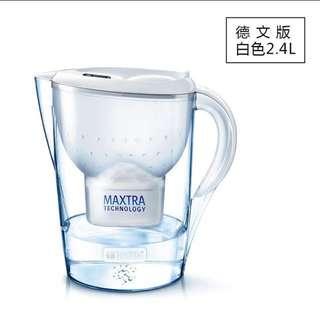 辦公室用  德國 BRITA濾水瓶2.4L連濾芯2個
