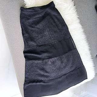 EBASE black floral maxi skirt
