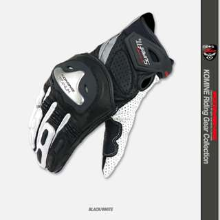 Authentic Komine GK144 GK-144 waterproof racing touring leather gloves gold