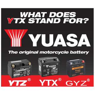 YUASA - Motorcycle Battery Replacement Service